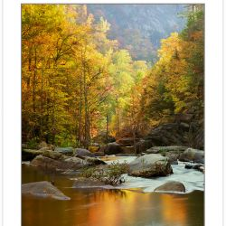 AL0167: Early Morning on the Tallulah River, Tallulah Gorge State Park. Rabun County, Georgia, Autumn(Multiple values)