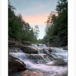 SD0791:  Jacks River Falls at sunrise, Cohutta Wilderness Area,