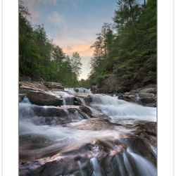 SD0793: Jacks River Falls at sunrise, Cohutta Wilderness Area,