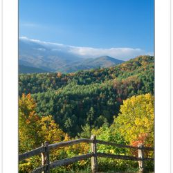A00141:  Pedestrian Walkway at Cataloochee Overlook, Great Smoky Mountains National Park, North Carolina, Autumn