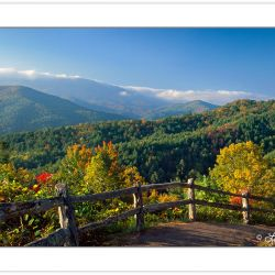A00142:  Pedestrian Walkway at Cataloochee Overlook, Great Smoky