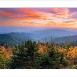 AD0111:  Sunset from Clingman's Dome, Great Smoky Mountains Nati