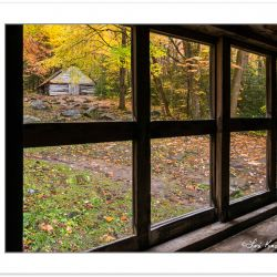 "AD0774: View of barn from cabin window, Noah ""Bud"" Ogle Place, G"