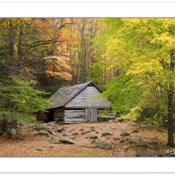 "RD0130"" Barn at Noah ""Bud"" Ogle Place, Great Smoky Mountains Nat"