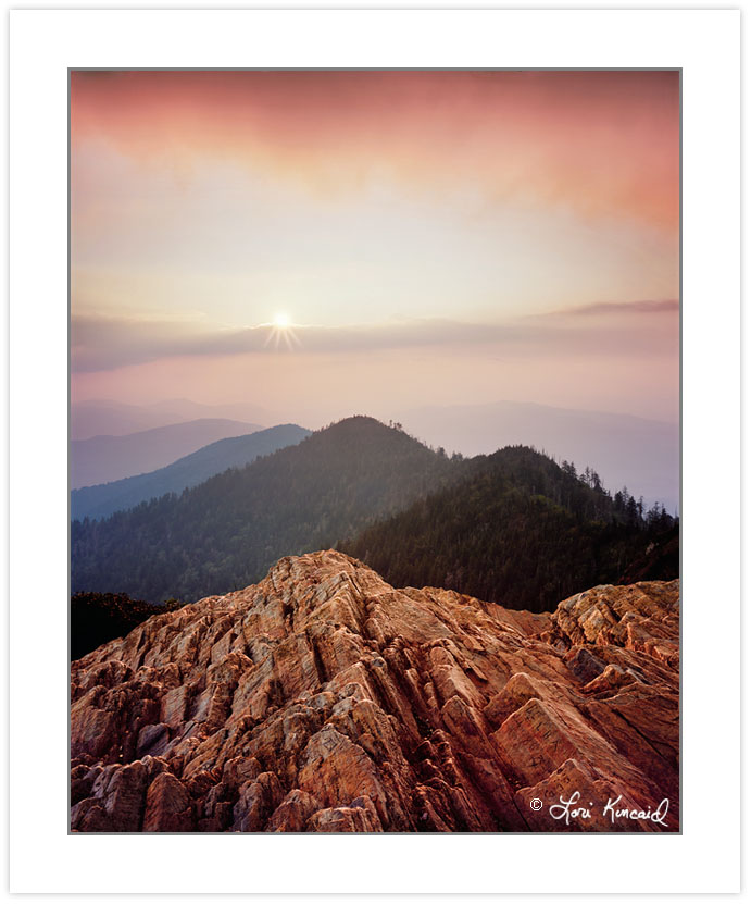 SL0223: Sunset from Cliff Top, Mt. Le Conte, Great Smoky Mountai