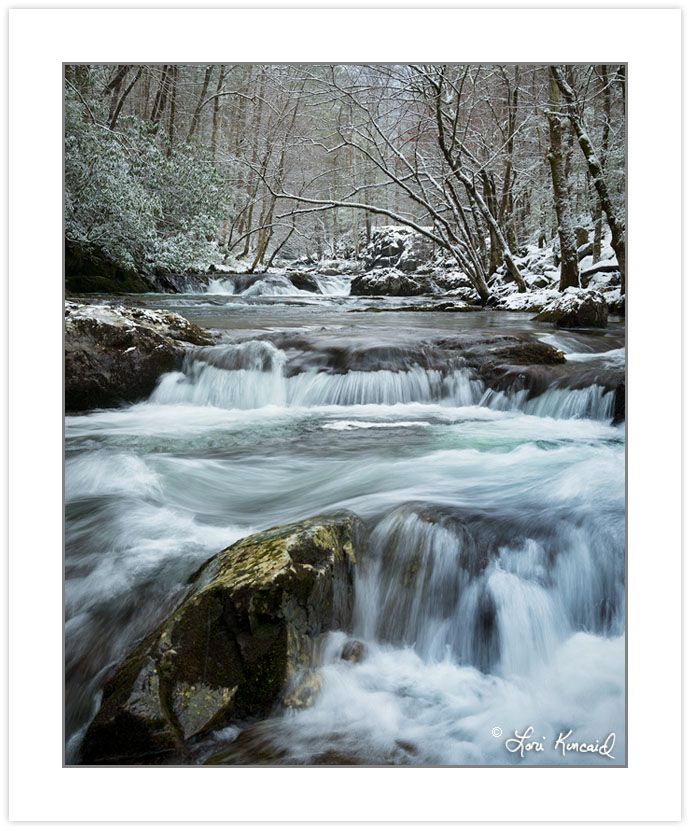 Middle Prong Little River in winter, Great Smoky Mountains Natio