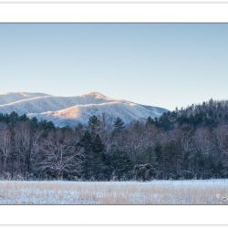 WD0375: Snow blankets the mountains in Cades Cove, Great Smoky M