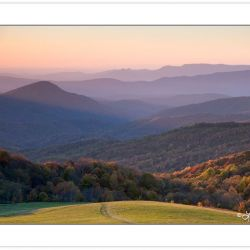 Sunset view from Max Patch, Pisgah national Forest, NC, Autumn