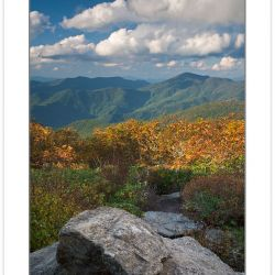 View from the Craggy Pinnacle Trail, Great Craggy Mountains, Blu