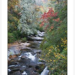 Chattooga National Wild and Scenic River at Bull Pen Bridge, Nan
