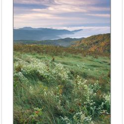 Early autumn view at dawn from Max Patch Mountain, Pisgah Nation