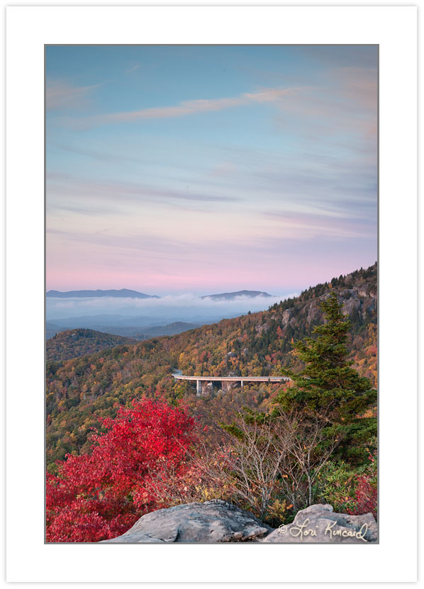 Linn Cove Viaduct viewed from Rough Ridge, Blue Ridge Parkway, N