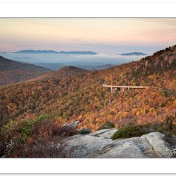 AD0600: Linn Cove Viaduct viewed from Rough Ridge, Blue Ridge Pa
