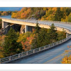 AD0720: Linn Cove Viaduct, Blue Ridge Parkway, NC, Autumn