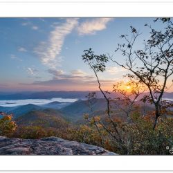 AD0724_725: Sunrise view from the Pickens Nose Trail, Southern N