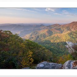 Early morning view, Pickens Nose, Southern Nantahala Wilderness,