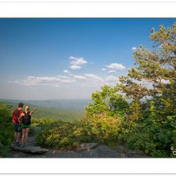RD0114: Hikers at Beacon Heights, Blue Ridge Parkway, NC, summer