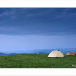 SD0105:  Tents on Max Patch Mountain before sunrise, Pisgah nati