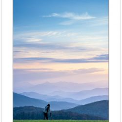 SD0106: Photographer on Max Patch at dawn, Pisgah National Fores