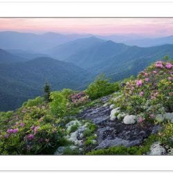 SD0186: Sunset in the Great Balsam Mountains near the Blue Ridge