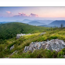 Sunset from Black Balsam Knob near the Blue Ridge Parkway, Black Balsam Mountains, NC