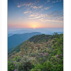 Sunset view from Standing Indian Mountain, Nantahala National F