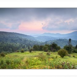 Sunset, Middle Prong Wilderness, NC, summer