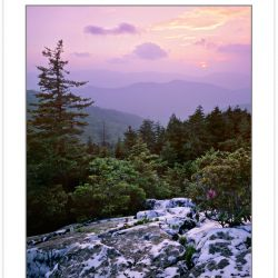 SL0134:  Sunset view from Shining Rock, Shining Rock Wilderness,