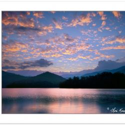 SL0198: Sunset from Cheoah Point, Santeetlah Lake, Nantahala Nat