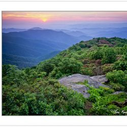 SL0341: Sunset from Craggy Pinnacle, Great Craggy Mountains, NC,