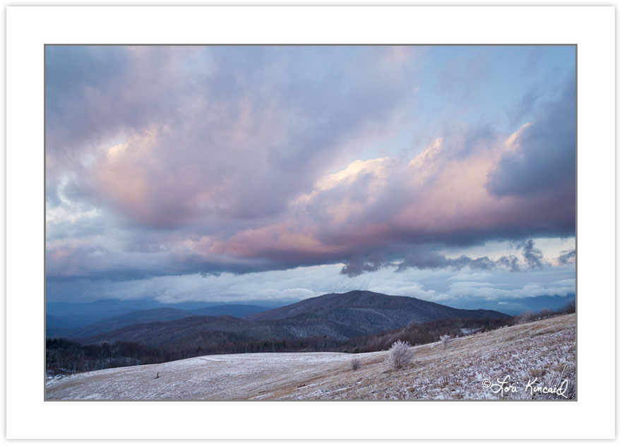WD0305: Clearing storm at sunset from Max Patch Mountain, Pisgah