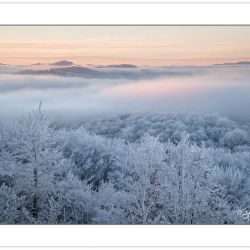 WD0312: Winter view at dawn from Max Patch Mountain, Pisgah Nati