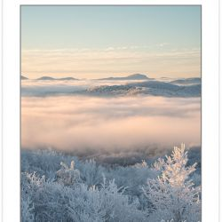 WD0319: Winter view at dawn from Max Patch Mountain, Pisgah Nati