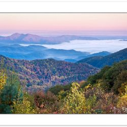 AD0180: Sunrise view from Madison County, NC-Cocke County, TN border looking northwest into Tennessee, Bald Mountains, Autumn