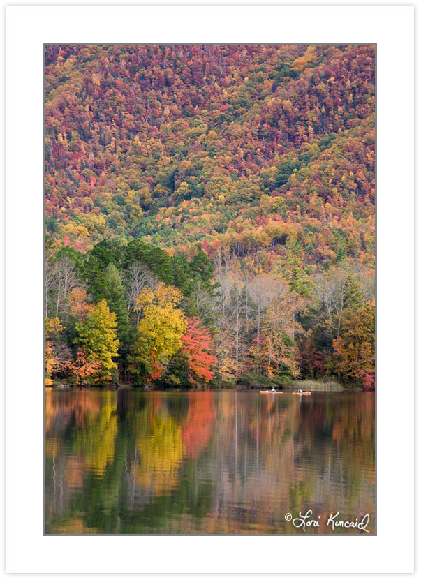 AD0201: Kayakers on Boundary Lake, Cherokee National Forest, Ten
